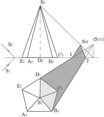 геометрия пятиугольная пирамида:
