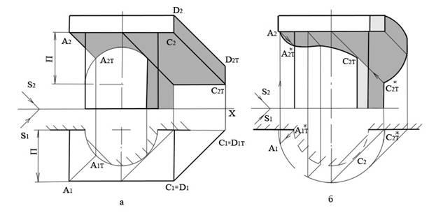 Построение теней от различных элементов фасадов зданий